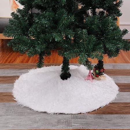 WOOTZ Alfombra de Felpa para árbol de Navidad, Falda para el Suelo ...