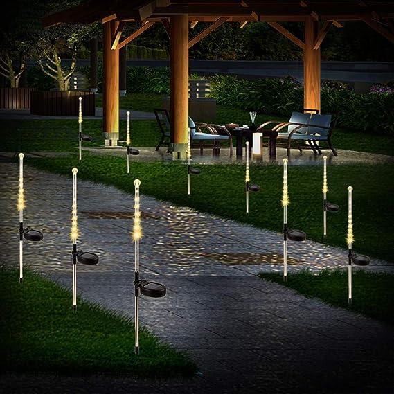 Iusun luces de noche solares, 2 unidades, cadena de luces ...