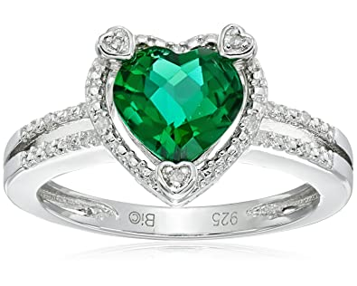 CloseoutWarehouse Cubic Zirconia Hearbeat Ring Sterling Silver