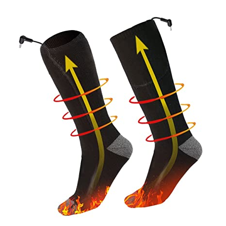 Boyko — Calcetines calentadores a pilas para deportes invernales como el esquí, la caza,