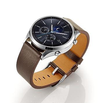 Aresh Bracelet en cuir pour Samsung Gear S3 Frontier et Classic
