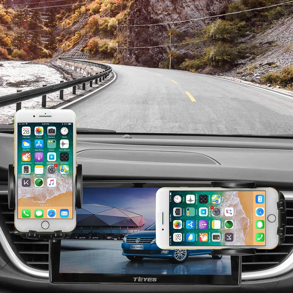 Car Phone Mount Air Vent Cell Phone Holder for Car Compatible with iPhone Xs//Xs Max//XR//X//8//8 Plus//7//7 Plus Air Vent Phone Holder for car Galaxy S10//S10+//S9//S9+ and Other Phones Black