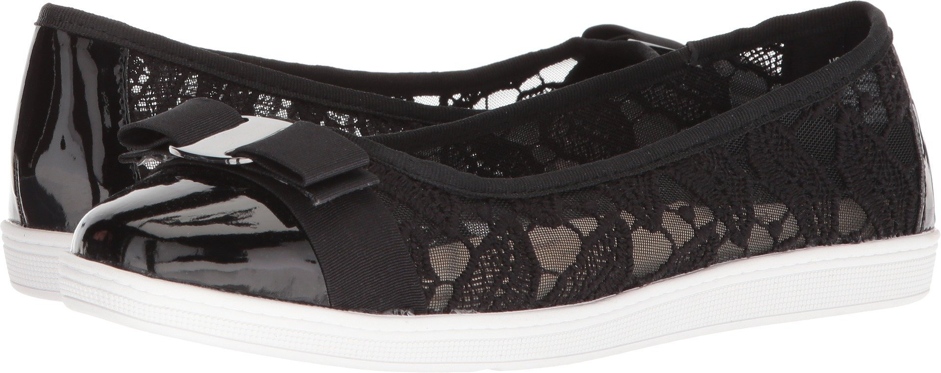 Soft Style by Hush Puppies Women's Fagan Loafer, Black Macrame, 06.0 M US