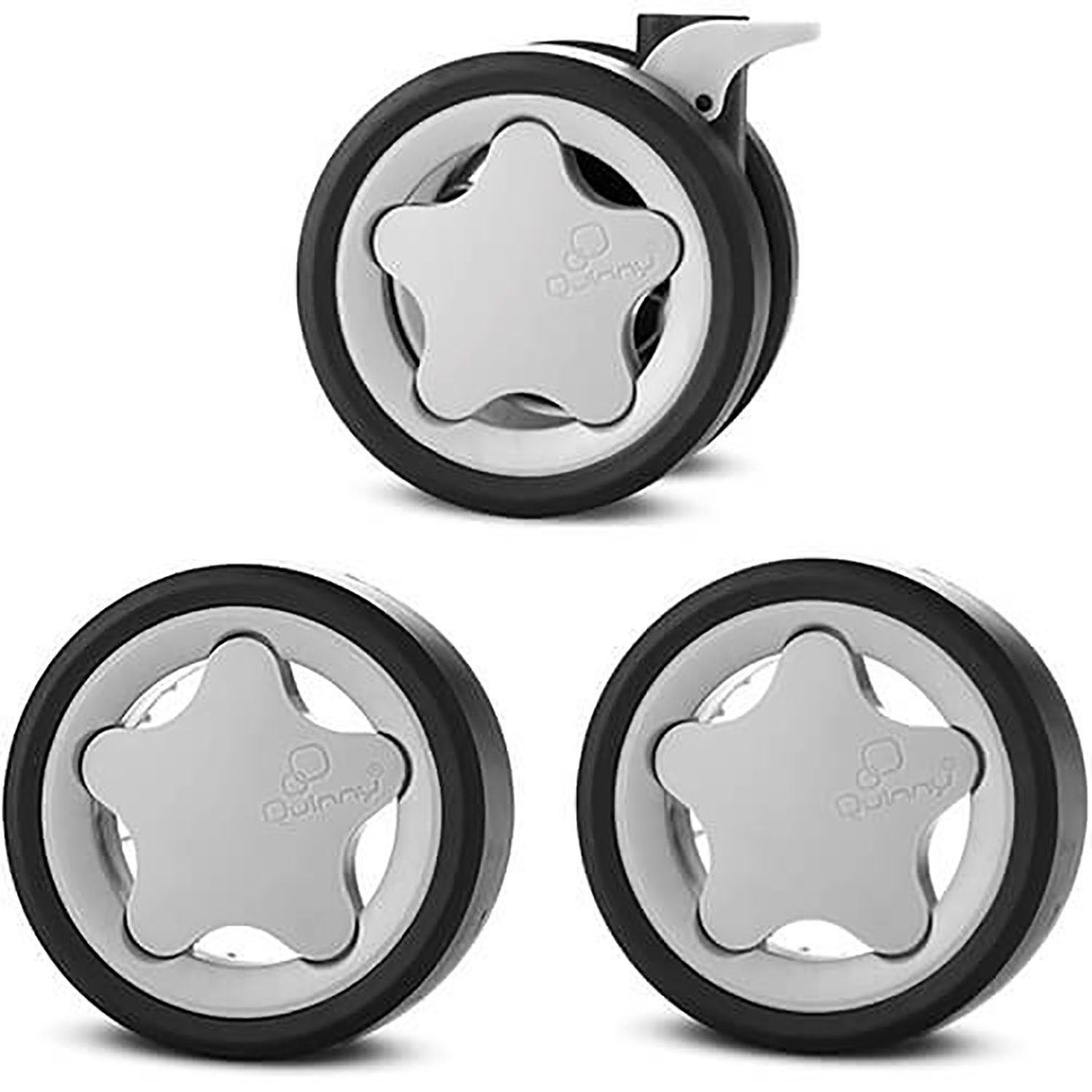 Quinny Zapp wheels set gray (1X front wheel 2x rear / back wheels)