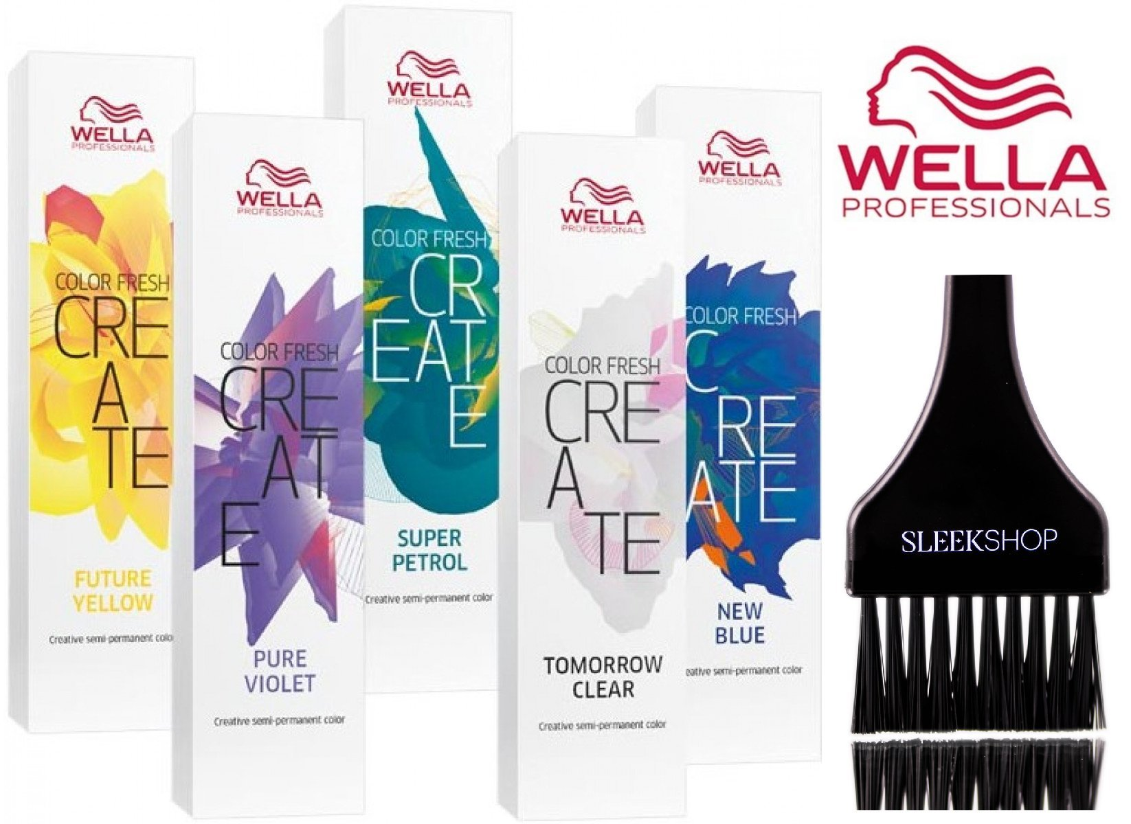 Wella COLOR FRESH CREATE Semi Permanent Shades Hair Color (with Sleek Tint Brush) (High Magenta) by Wella Professionals