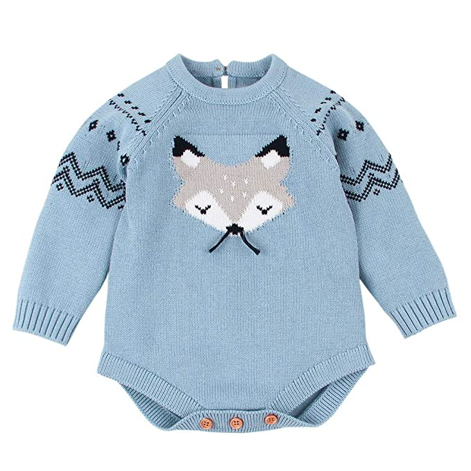 Amazon.com: Lollyeca Infant Baby Girl Boy Knitted Sweater Small Fox ...