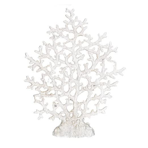 Christmas Tablescape Decor - White faux spongy sea fan coral tabletop decoration