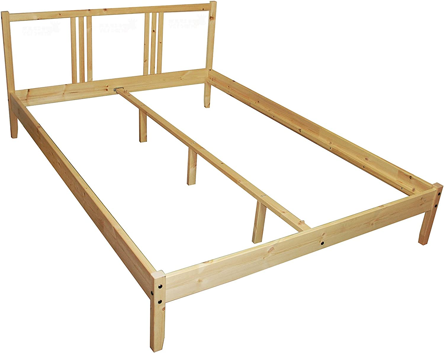 Ikea Fjellse Bed In 140 X 200 Cm Bed Frame Solid Untreated Pine Amazon Co Uk Kitchen Home