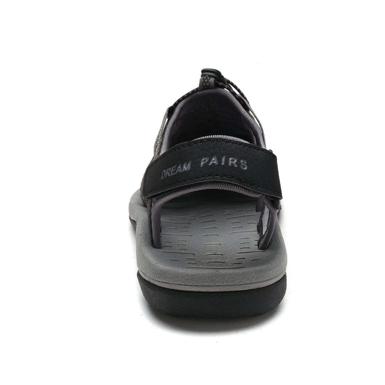 DREAM PAIRS Women's 160912-W Adventurous 6.5 Summer Outdoor Sandals B077GB6HZW 6.5 Adventurous M US|Black Dk.grey e6ab59