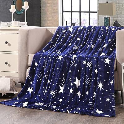 Shinemoon toutes saisons doux Flanelle draps de lit/canapé/couverture pour adultes enfants Lightweight Outdoor Voyage Camping reste couvertures pour froid
