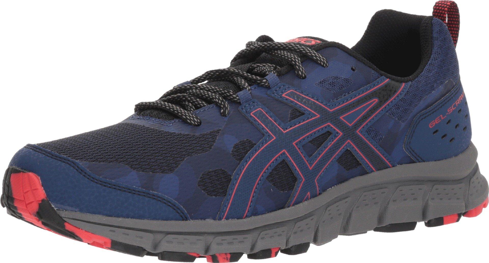 ASICS 1011A045 Men's Gel-Scram 4 Running Shoe, Deep Ocean/Cayenne - 7 D(M) US
