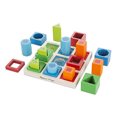Melissa & Doug Shape Sequence Sorting Set (Wooden Toy, Great Gift for Girls and Boys - Best for 3, 4, 5, and 6 Year Olds): Melissa & Doug: Toys & Games