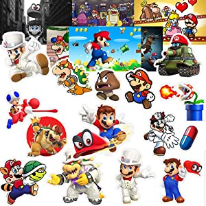 GTOTd Stickers for Super Mario (20-Pcs).Stickers Waterproof Bomb Graffiti Decals for Cars Motorcycle Skateboard Portable Luggages Laptops