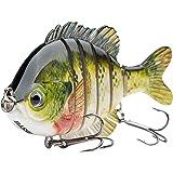 "Bassdash SwimPanfish Multi Jointed Panfish Bluegill Swimbaits Hard Topwater Bass Lures Fishing Lure Crank Saltwater 3.5""/0.85oz"