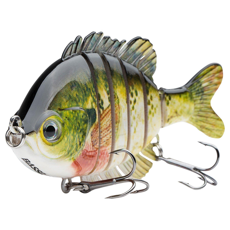 Bassdash SwimPanfish Multi Jointed Panfish Bluegill Swimbaits Topwater Hard Bass Fishing Crank Lure 3.5in/0.85oz, 4 Colors (Bluegill) by Bassdash