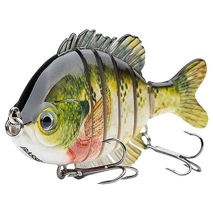 "078e2028ee8 Bassdash SwimPanfish Multi Jointed Panfish Bluegill Swimbaits Topwater Hard  Bass Fishing Crank Lure 3.5"""
