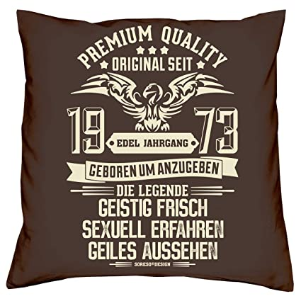 Soreso Design Set de Regalo :+: Elegante año 1973 cojín + ...