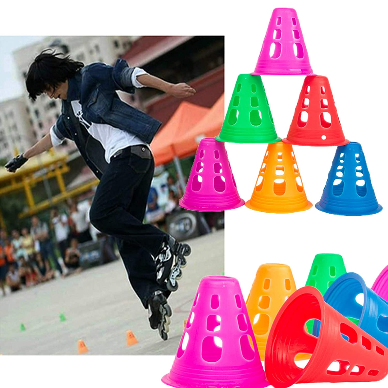 Cones de Sport Plots de Marquage de Haute Visibilit/é Signalisation Multicolores Plot Cone pour Football YAVO-EU C/ônes De Slalom,C/ônes de Circulation Sport d/'Agilit/é ou Le Dressage des Chiens