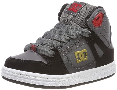 DC Shoes Pure High Top, Chaussures de Skateboard garçon, Gris (Grey Black f3d360045fa0