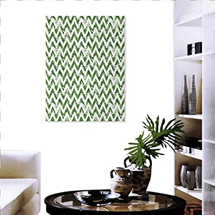 Amazon Com Palm Leaf Print Paintings Home Wall Office Decor Chevron