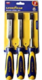 Goodyear 3Pcs Wood Chisel Set With Striking Head And Very Comfortable Grip