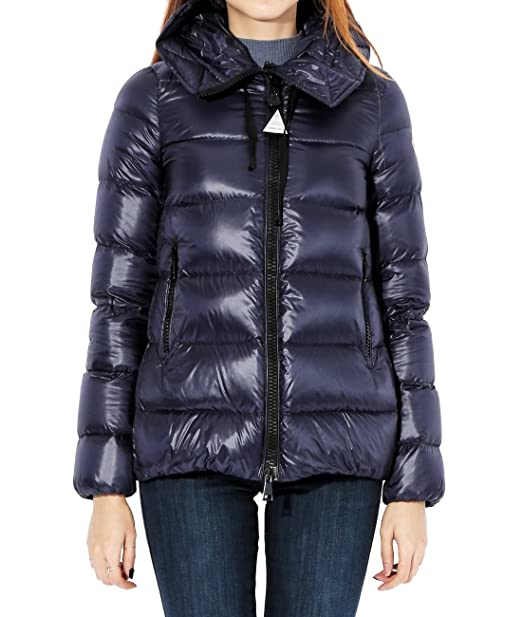 b65e97564669 Wiberlux Moncler Serinde Women s Down Padded Two-Way Zip Hood Jacket Size 0  Navy
