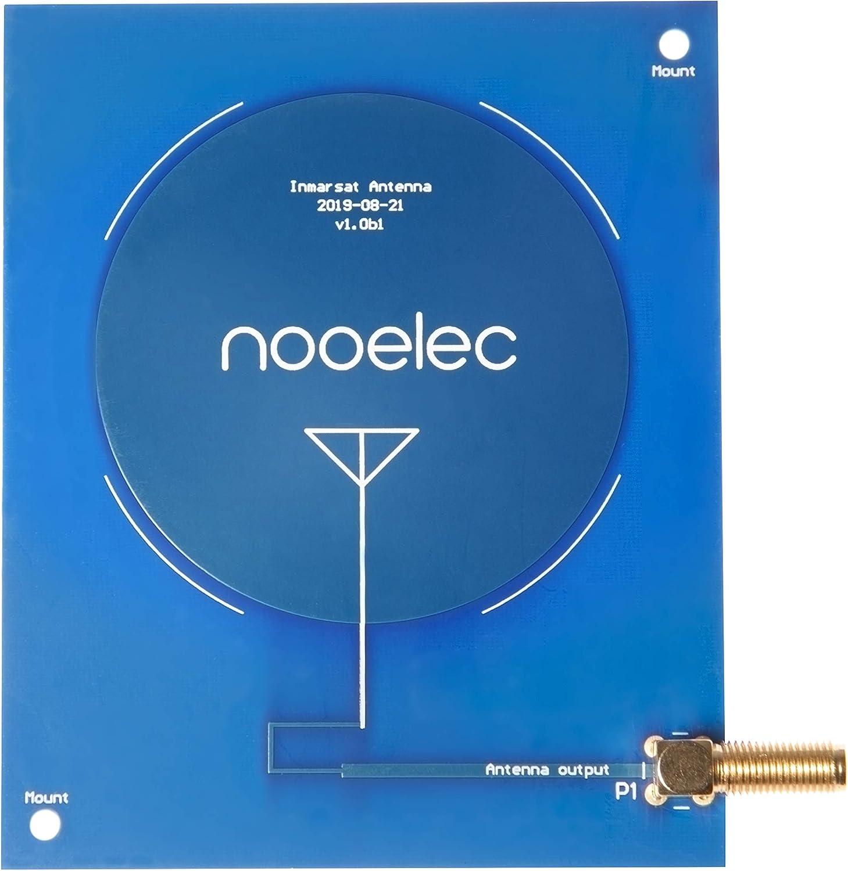 3,5dBi Kit de Recepci/ón de Nooelec Active Inmarsat: Incluye M/ódulo de Filtro y LNA Antena de Parche de 1550MHz de Alta Ganancia Cables y Adaptadores. Bloque de DC SMA