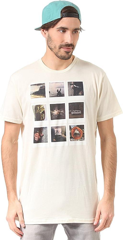 Burton Mb Polaroid Camiseta de manga corta, color vainilla, tamaño XXL: Amazon.es: Ropa y accesorios
