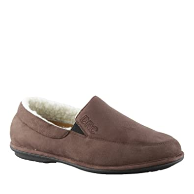 eb5d09c1f Dr. Comfort Men's Relax Therapeutic Slippers, Relax Chocolate, ...
