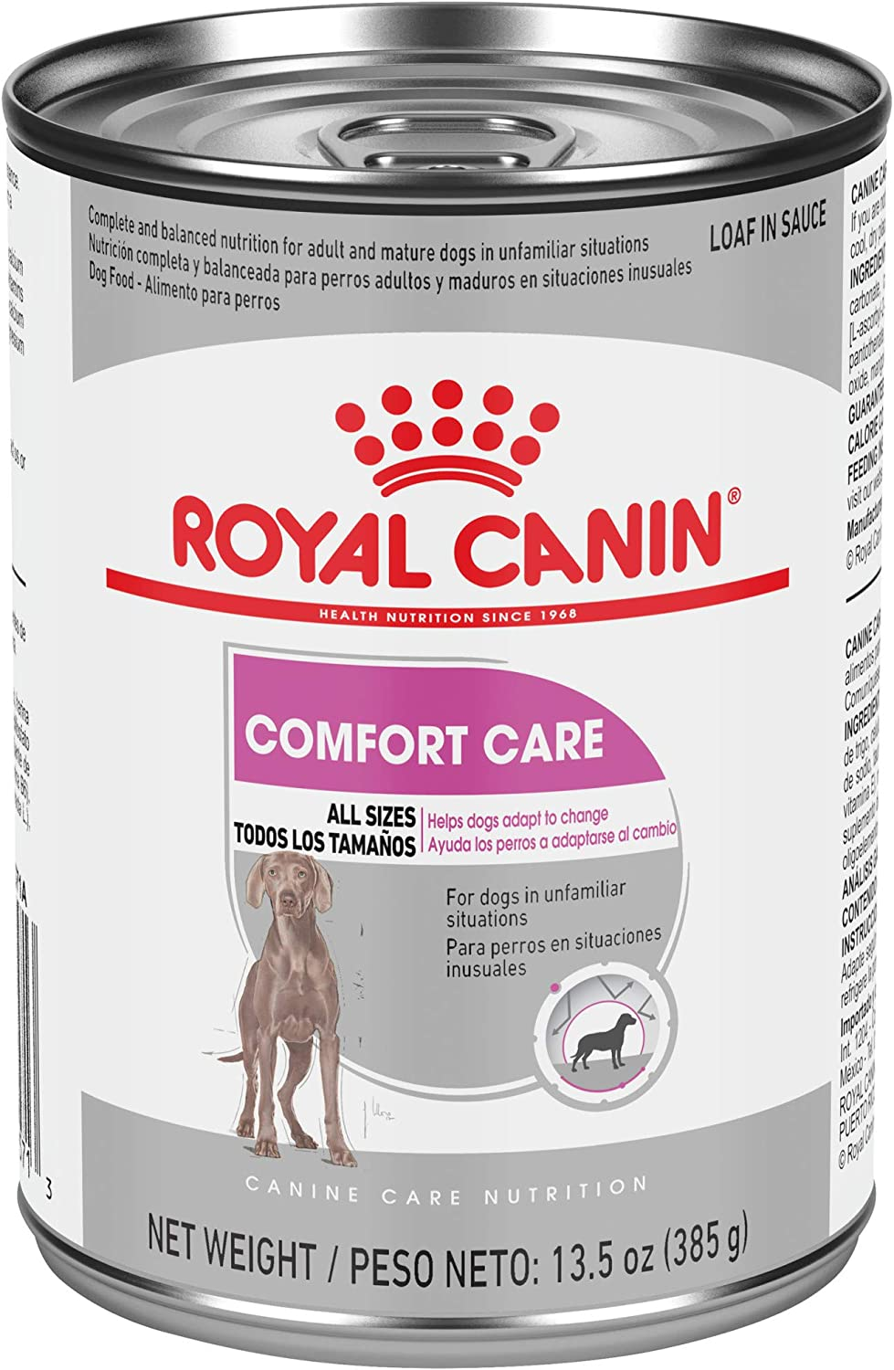Royal Canin Canine Care Nutrition Comfort Care Loaf in Sauce Canned Dog Food, 13.5 oz (Pack of 12)