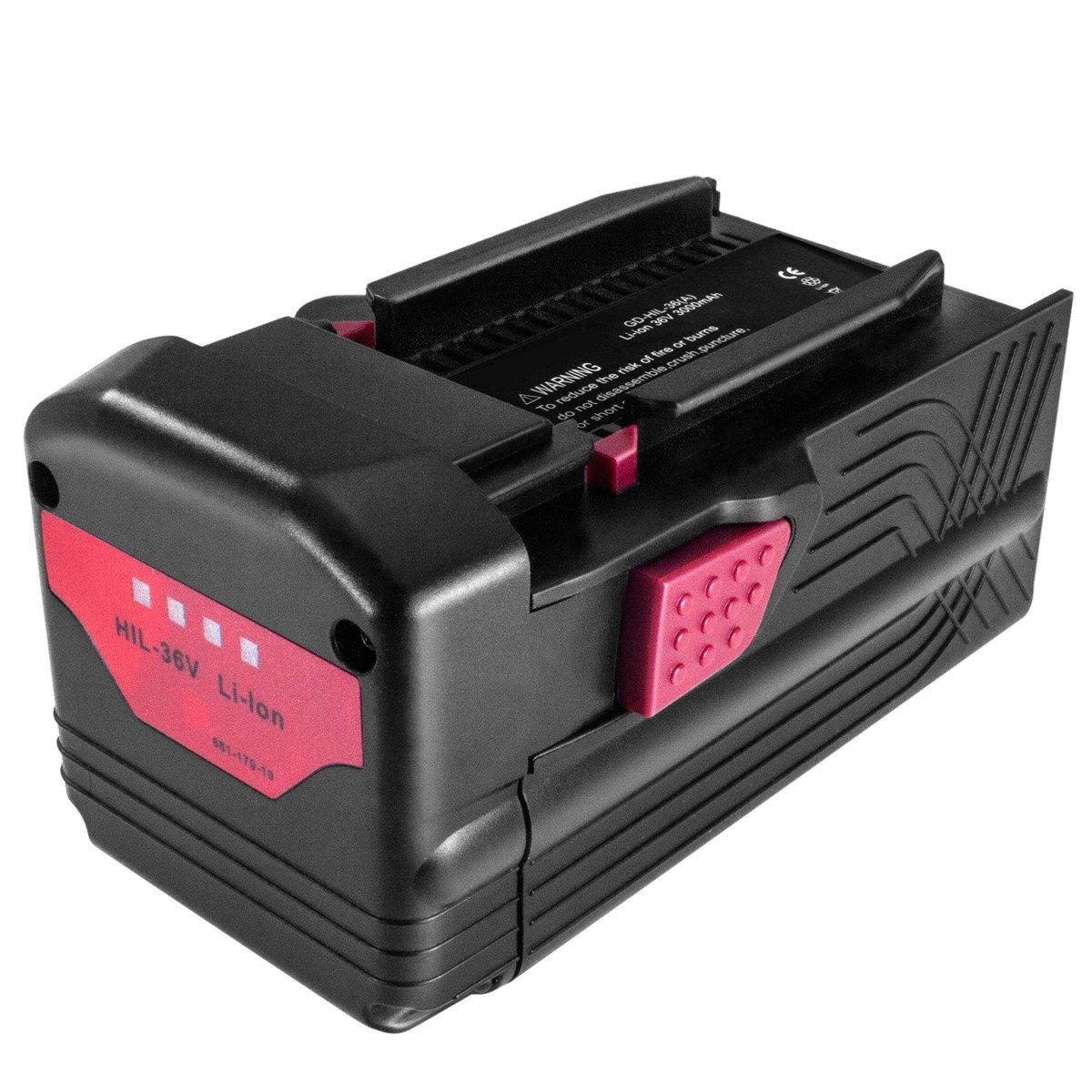 Akku kompatibel zu Hilti TE6A, TE 6A - ersetzt B36, B36V, B36/3.0, B 36/3.0 - Li-Ion 3000mAh 36V
