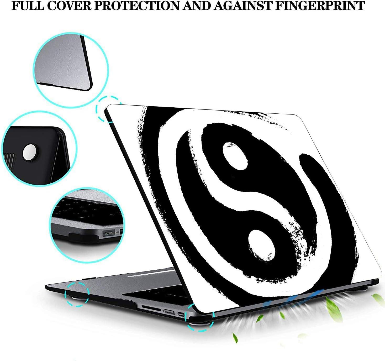 Case Macbook Air Chinese Yin Yang Tao Mandala Element Plastic Hard Shell Compatible Mac Air 11 Pro 13 15 Mac Cover Protection For Macbook 2016-2019 Version