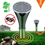 KINGMAZI Solar-Powered Mole Repellent Professional Mole Repeller Pest Deterrent Repelling Mole, Rodent, Vole, Shrew, Gopher, Snake for Outdoor Lawn Garden Yards Pest Control-2 Pack