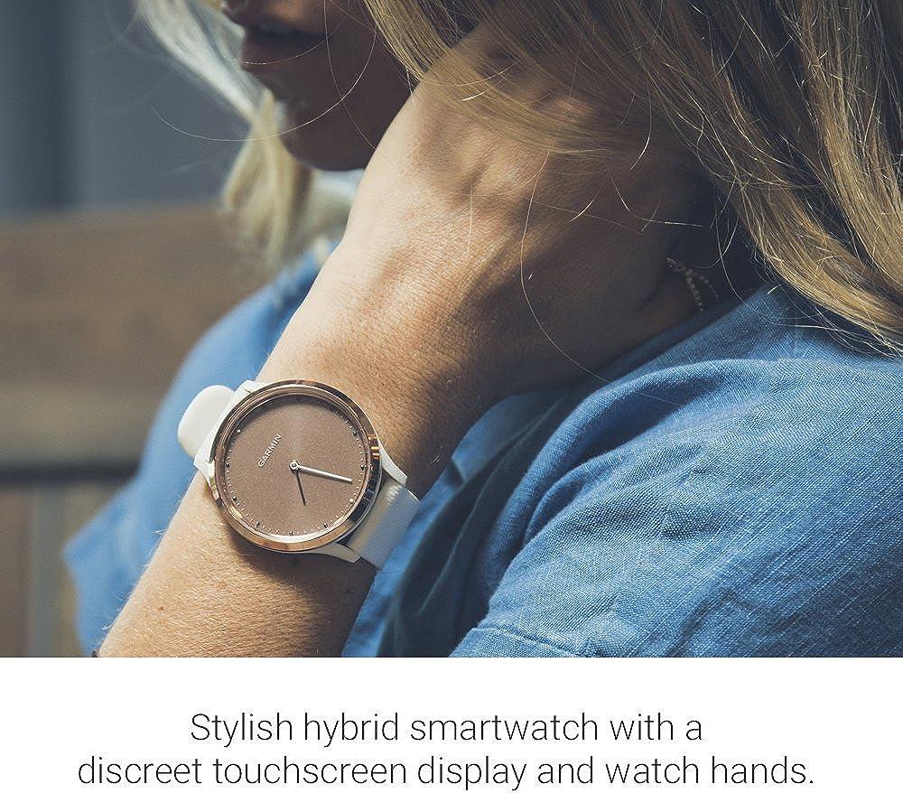 Garmin Vivomove HR Premium Hybrid Smartwatch Rose Gold with Grey ...