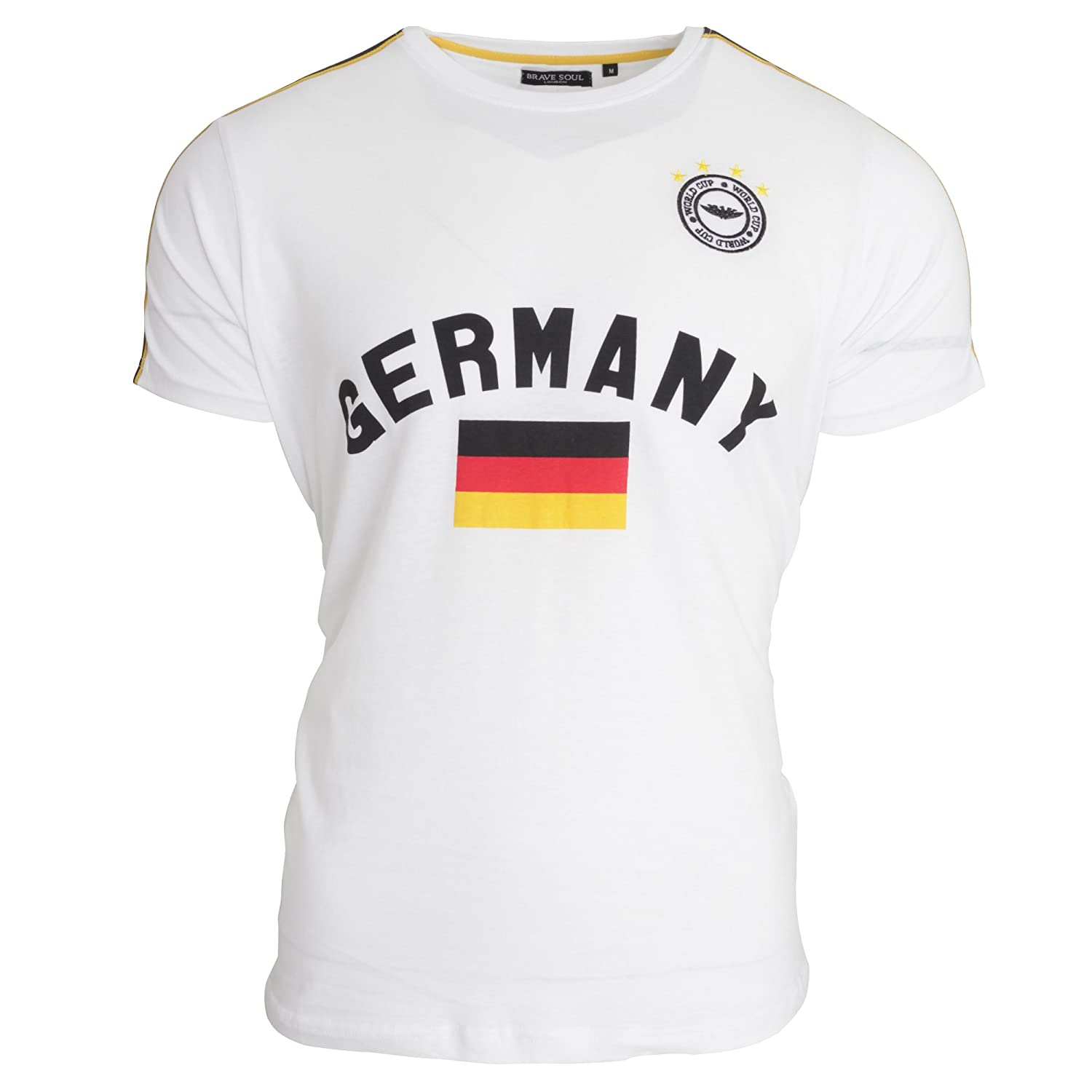 Brave Soul Unisex Germany Short Sleeve Football T-Shirt