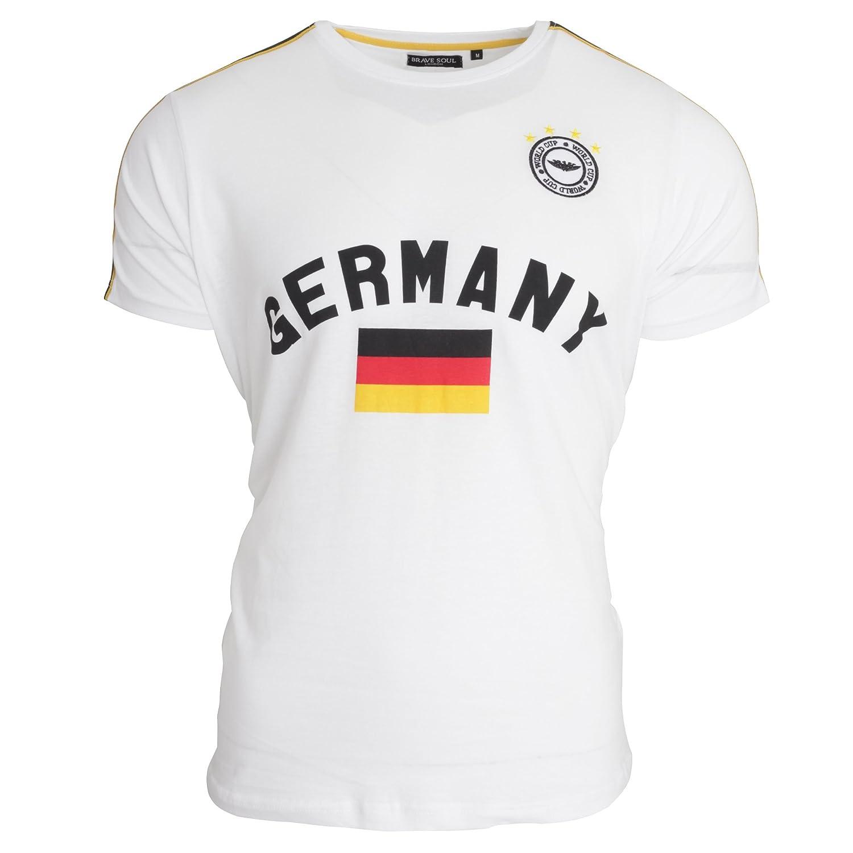 Brave Soul Unisex Germany Short Sleeve Football T-Shirt