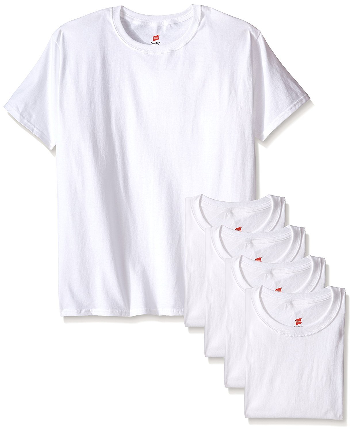 Hanes Men's ComfortSoft T-Shirt (Pack Of 6) (White, XX-Large Tall)