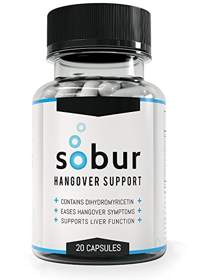 Sobur Hangover Pills - #1 Rated Hangover Cure Featuring 300mg  DHM/Dihydromyricetin/Hovenia