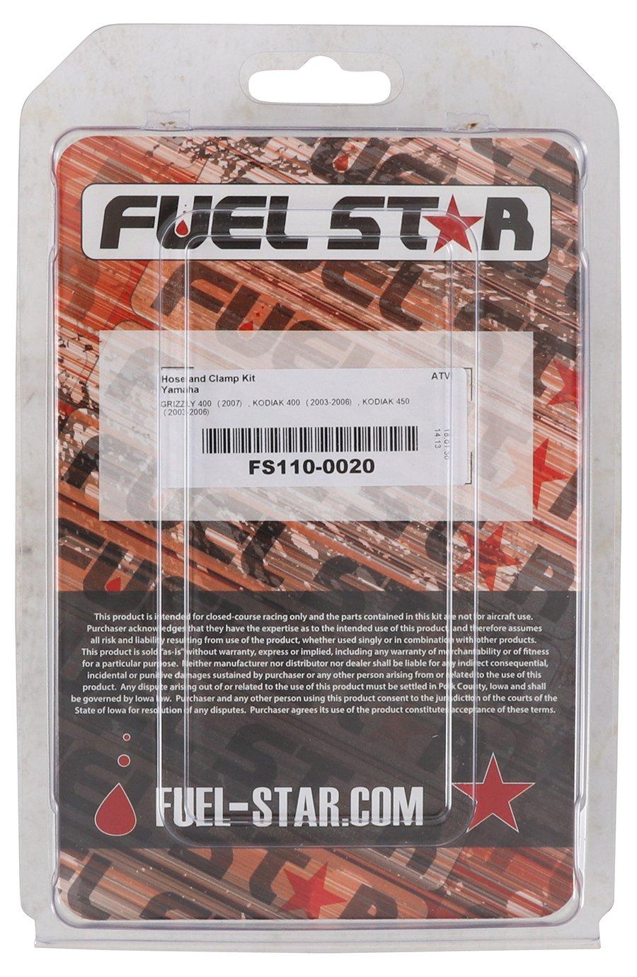 03-06 New Fuel Star Hose and Clamp Kit for Yamaha YFM 450 FA Kodiak 4x4