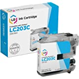 LD Compatible Ink Cartridge Replacement for Brother LC203C High Yield (Cyan)