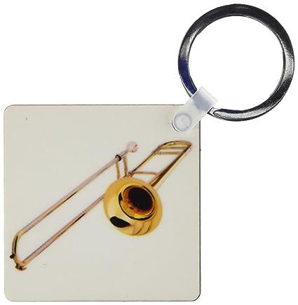 3dRose trombón - Clave Cadenas, 2,25 x 4,5 pulgadas, set de ...