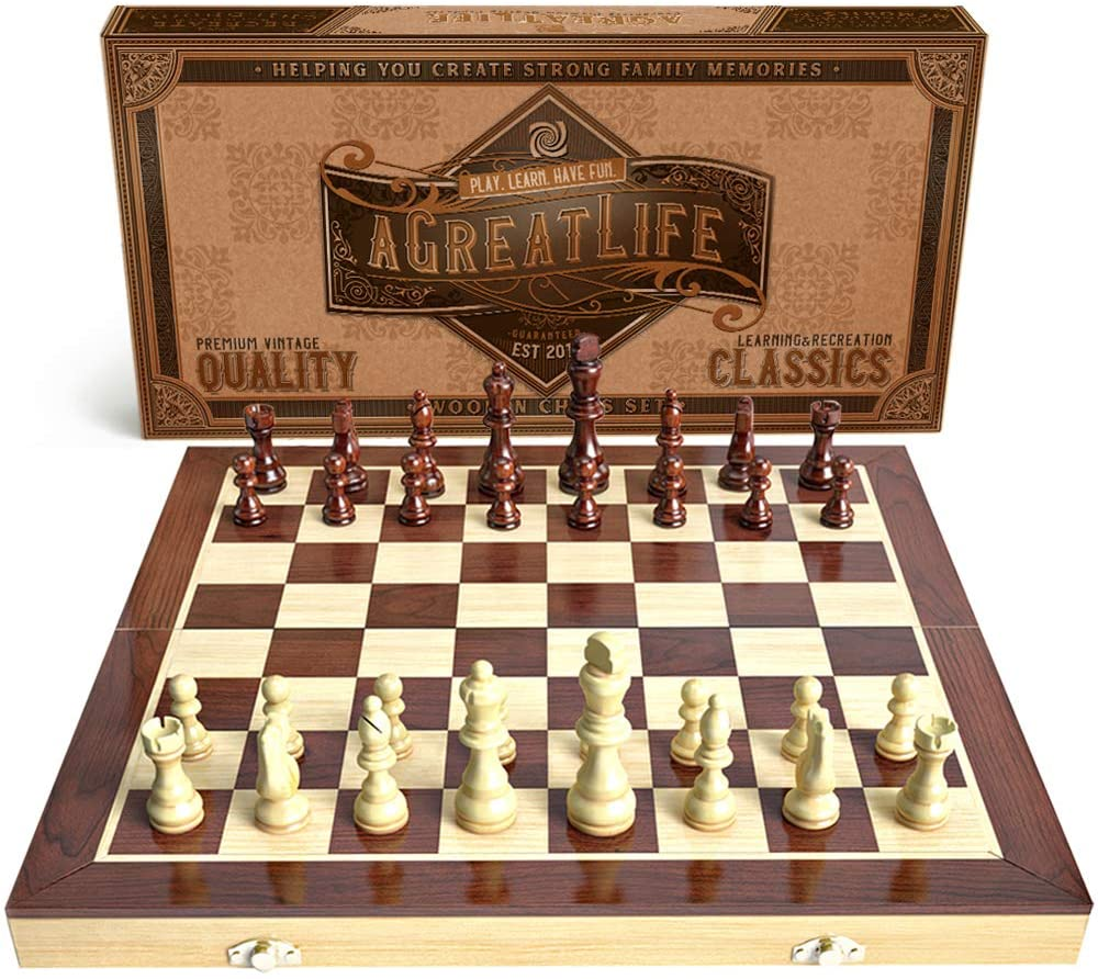 aGreatLife Wooden Chess Set