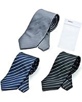 グリニッジ ポロ クラブ 洗えるネクタイ 3本セット 洗濯ネット1個付き 撥水加工