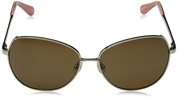 cd722c807872 Amazon.com: Kate Spade Women's Candida/p/s Oval Sunglasses Almond/Brown  Polarized 58 mm: Clothing