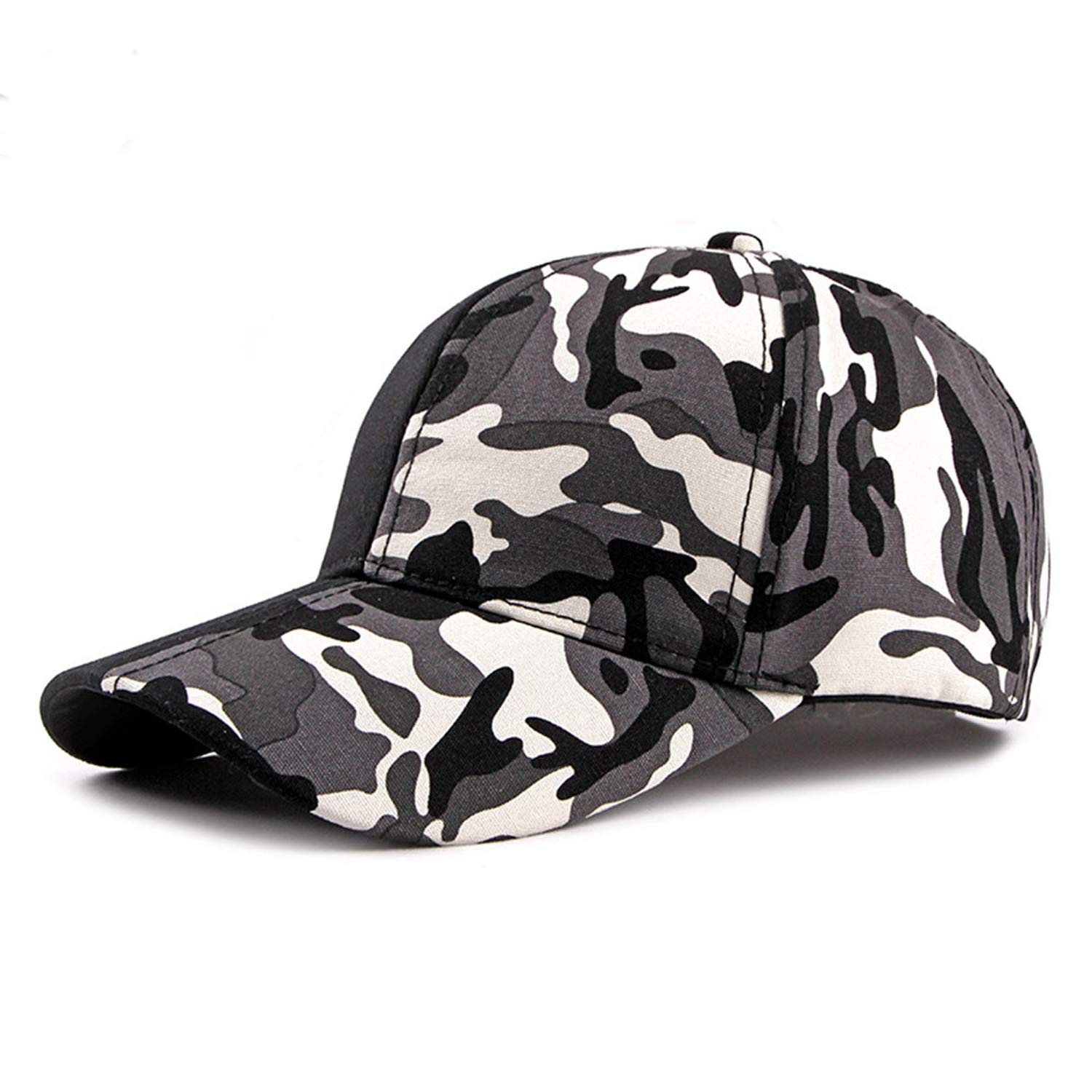 LONIY Streetwear Patchwork Camouflage Cap Hip Hop Baseball Caps Women Men Black Gorra Camuflaje Snapback Dad Hats at Amazon Womens Clothing store: