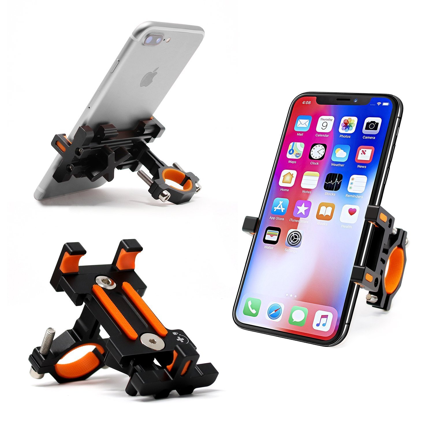 Sporcis Bike Phone Mount, Bicycle Motorcycle Handlebars Mobile Phone Holder with 360 ° Rotation Adjustable, Fits iPhone X, 8 | 8 Plus, 7 | 7 Plus, iPhone 6s | 6s Plus, Galaxy S7/ S6/ S5 by Sporcis (Image #9)