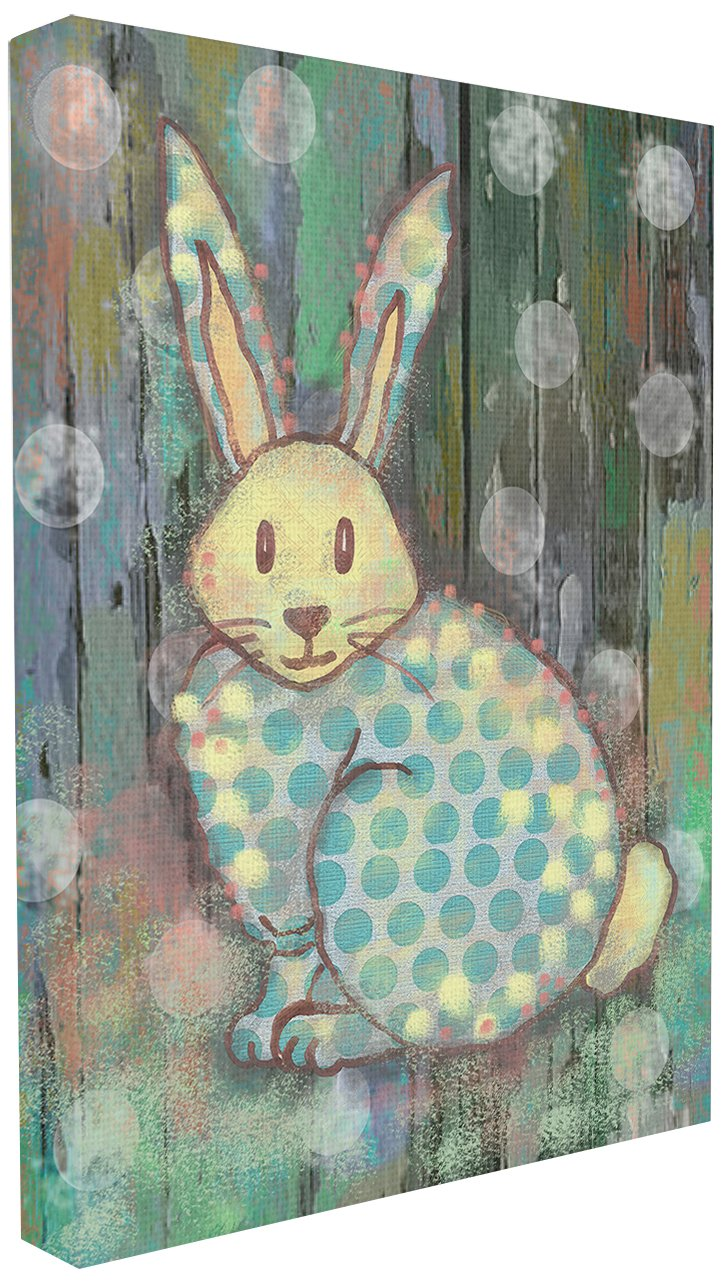 Proudly Made in USA brp-1465 11 x 0.5 x 15 The Kids Room by Stupell Distressed Woodland Rabbit Rectangle Wall Plaque