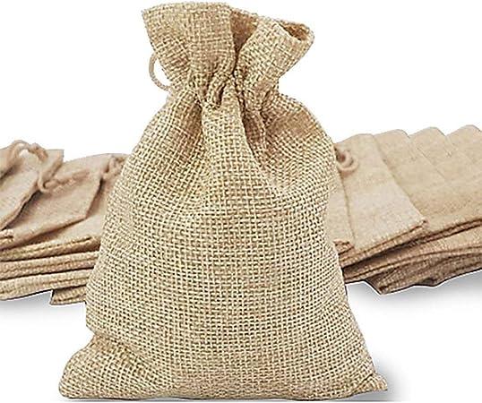 Amazon.com: Bolsas de arpillera con cordón y etiquetas de ...