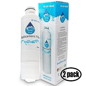 2-Pack Replacement Samsung RF28HFEDBSR/AA-0000 Refrigerator Water Filter - Compatible Samsung DA29-00020B, DA29-00020A, HAF-CIN Fridge Water Filter Cartridge