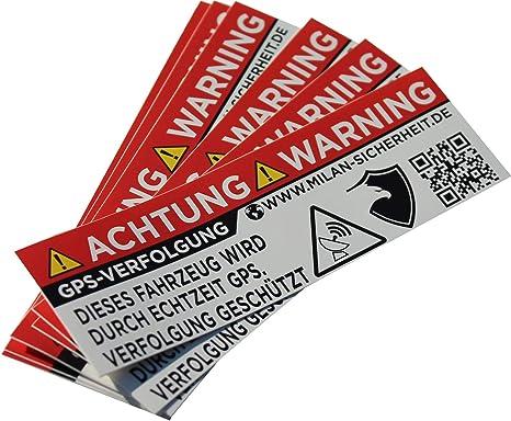 Grip Bender 6 Stück Gps Sticker Ortungs Gps Signal Gesichert Inkl Webseite Auf Dem Anti Diebstahl Aufkleber Alarm Warnaufkleber Für Auto Motorrad Und Fahrrad Aussenklebend Weiss Auto